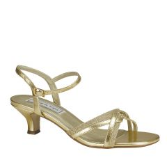 Melanie Gold Glitter Open Toe Womens Evening / Prom Sandals - Shoes from Touch Ups by Benjamin Walk