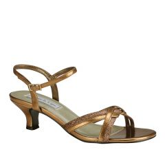 Melanie Bronze Glitter Open Toe Womens Evening / Prom Sandals - Shoes from Touch Ups by Benjamin Walk