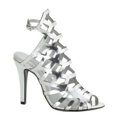 Mercury Silver Mirror Open Toe Womens Prom Sandals - Shoes from Touch Ups by Benjamin Walk