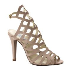 Mercury Nude Patent Open Toe Womens Evening / Prom Sandals - Shoes from Touch Ups by Benjamin Walk