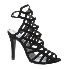 Mercury Black Lamy Open Toe Womens Evening Sandals - Shoes from Touch Ups by Benjamin Walk