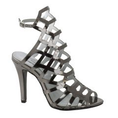 Mercury Pewter Mirror Open Toe Womens Evening / Prom Sandals - Shoes from Touch Ups by Benjamin Walk