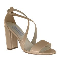 Micah Nude Patent Open Toe Womens Pageant / Evening / Prom Sandals - Shoes from Touch Ups by Benjamin Walk