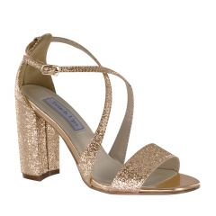 Micah Rose Gold Foil Open Toe Womens Evening / Prom Sandals - Shoes from Touch Ups by Benjamin Walk