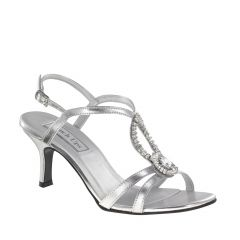 Mindy Silver Metallic Open Toe Womens Prom Sandals - Shoes from Touch Ups by Benjamin Walk