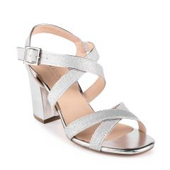 Mireya Silver Womens Open Toe Evening|Prom Sandal -  Shoes from Paradox London by Benjamin Walk