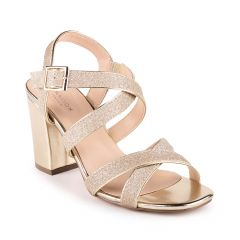 Mireya Gold Womens Open Toe Evening|Prom Sandal -  Shoes from Paradox London by Benjamin Walk