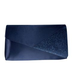 Morgan Navy Metallic Shimmer Womens  Handbag from Touch Ups by Benjamin Walk