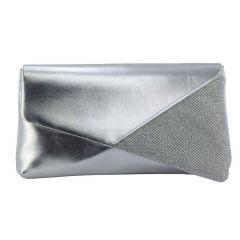Morgan Silver Metallic Shimmer Womens  Handbag from Touch Ups by Benjamin Walk