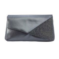 Morgan Pewter Metallic Shimmer Womens  Handbag from Touch Ups by Benjamin Walk