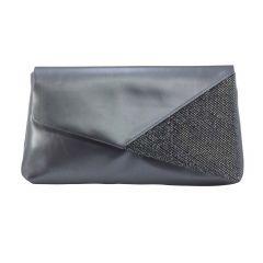 Morgan Pewter Metallic Shimmer Womens  Handbag from Touch Ups by Benjamin Walk