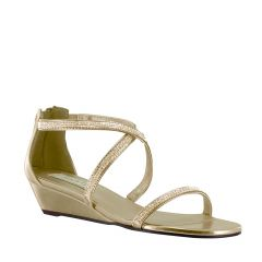 Moriah Gold Metallic Open Toe Womens Evening / Prom Sandals - Shoes from Touch Ups by Benjamin Walk