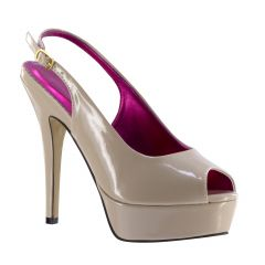 Natalia Nude Patent Peeptoe Womens Pageant / Evening / Prom Pumps - Shoes from Johnathan Kayne by Benjamin Walk