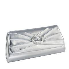 Noelle Silver Metallic Womens  Handbag from Touch Ups by Benjamin Walk