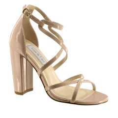 Peyton Nude Patent Open Toe Womens Pageant / Evening / Prom Sandals - Shoes from Touch Ups by Benjamin Walk