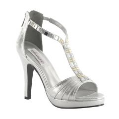 Riley Silver Shimmer Open Toe Womens Prom Sandals - Shoes from Dyeables by Dyeables