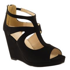 Rory Black Lamy Open Toe Womens Evening Platform / Sandals - Shoes from Touch Ups by Benjamin Walk