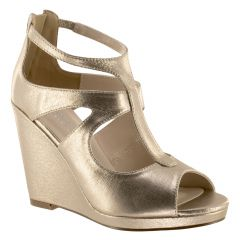 Rory Champagne Shimmer Open Toe Womens Evening / Prom Platform / Sandals - Shoes from Touch Ups by Benjamin Walk