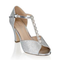 Rosie Silver Womens Open Toe Evening|Prom Sandal -  Shoes from Paradox London by Benjamin Walk