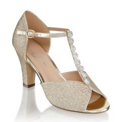 Rosie Champagne Womens Open Toe Evening|Prom Sandal -  Shoes from Paradox London by Benjamin Walk