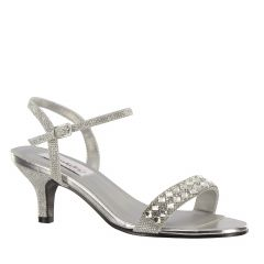 Sage Silver Shimmer Open Toe Womens Prom Sandals - Shoes from Dyeables by Dyeables