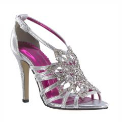 Stella Silver Shimmer Open Toe Womens Prom Sandals - Shoes from Johnathan Kayne by Benjamin Walk