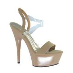 Suntan Taupe Lamy Open Toe Womens Pageant / Evening / Prom Sandals - Shoes from Johnathan Kayne by Benjamin Walk