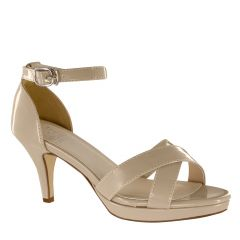 Suzanne Nude Patent Open Toe Womens Pageant / Evening / Prom Sandals - Shoes from Touch Ups by Benjamin Walk