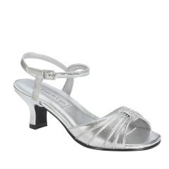 Talia Silver Metallic Open Toe Children's Prom Sandals - Shoes from Touch Ups by Benjamin Walk