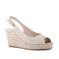 Tania Champagne Shimmer Peeptoe Womens Destination / Evening / Prom Platform / Pumps - Shoes by Paradox London