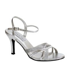 Taryn Silver Glitter Open Toe Womens Prom Sandals - Shoes from Touch Ups by Benjamin Walk
