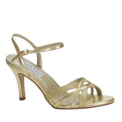 Taryn Gold Glitter Open Toe Womens Evening / Prom Sandals - Shoes from Touch Ups by Benjamin Walk