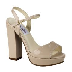 Whitta Nude Patent Open Toe Womens Pageant / Evening / Prom Platform / Sandals - Shoes from Dyeables by Dyeables