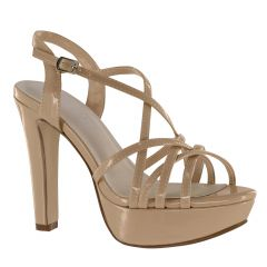 Wren Nude Patent Open Toe Womens Pageant / Evening / Prom Sandals - Shoes from Touch Ups by Benjamin Walk
