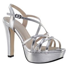 Wren Silver Metallic Open Toe Womens Prom Sandals - Shoes from Touch Ups by Benjamin Walk