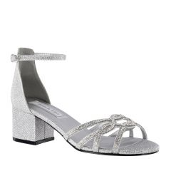 Zoey Silver Shimmer Open Toe Womens Prom Sandals - Shoes from Touch Ups by Benjamin Walk