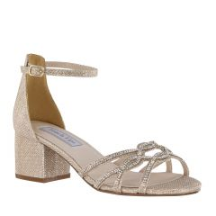 Zoey Champagne Shimmer Open Toe Womens Evening / Prom Sandals - Shoes from Touch Ups by Benjamin Walk
